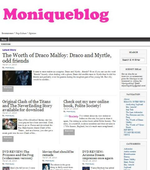 moniqueblog.net, entertainment, technorati, blogged.com